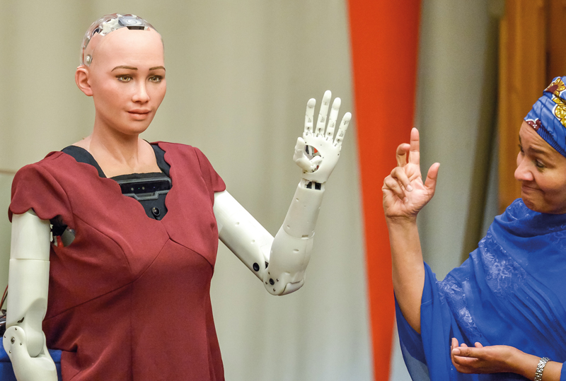 The human capabilities of the social humanoid robot Sophia were overhyped but it helped normalise robotics and accelerated development - Ph: Press Association