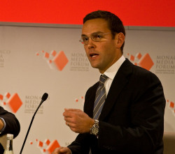 James Murdoch has criticised his family's news empire for its climate change denial stance