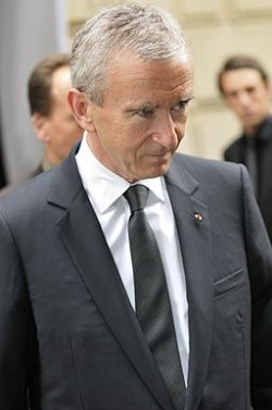 Bernard Arnault, chief executive of LVMH and France's richest man